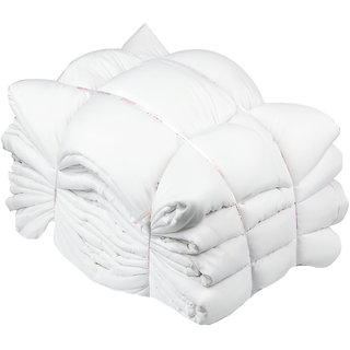 Just Hospitality Hotel Collection Deluxe Economy Pack of 4 Micro Fabric Silkenised King Size AC Duvet Fillers