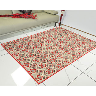Saral Home Soft Premium Quality Jacquard Floor Carpet- 120x180 cm