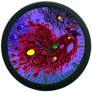 meSleep Peacock 3D Wall Clock (With Glass)