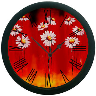 meSleep Spectacular Flowers Wall Clock (With Glass)