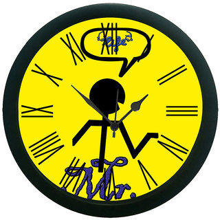 meSleep Mr. Wall Clock (With Glass)