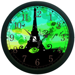 meSleep Eiffel Tower 3D Wall Clock (With Glass)