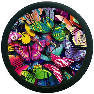 meSleep Magnificent Butterfly Wall Clock (With Glass)