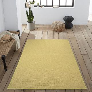 Saral Home Premium Quality Modern Jute n Cotton Made Floor Carpet- 120x180 cm