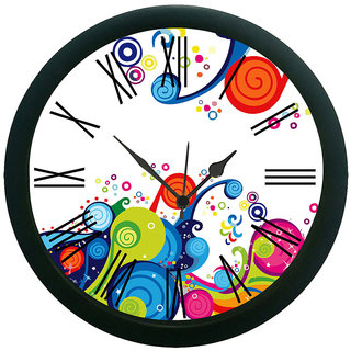 meSleep Coloured Abstract Wall Clock (With Glass)