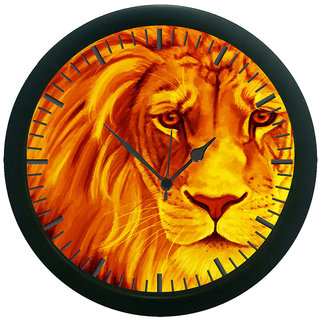 meSleep Lion Face 3D Wall Clock (With Glass)