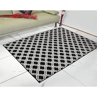 Saral Home Abstract Design Jacquard Floor carpet -150x210 cm