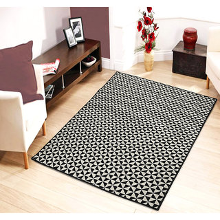 Saral Home Abstract Design Jacquard Floor carpet -120x180 cm
