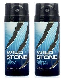 Wild Stone Aqua fresh Body Deodrant 150ml Set of 2