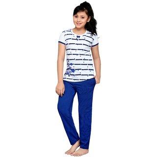 Buy Punkster Cotton Cap Sleeves Top Pyjama Set For Girls-13114A-4 ... a2615597c