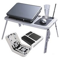 Multipurpose Laptop Foldable Table E-Table With 2 Usb Fan