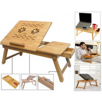 Portable Multipurpose Laptop Wooden E-table For Study Reading Table