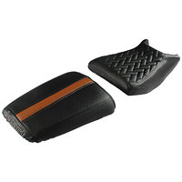 Prime Luxury Bike Seat Cover Black and Tan for RoyalEn-field Thunderbird 500