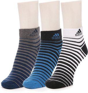Adidas Cotton Casual Ankle Socks Pack Size 3 Multicolor