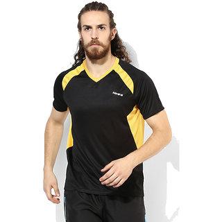 Admiral Men'S Efferverse Black Orange Sports T-Shirt