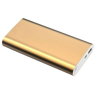 Lionix Stylish Designed USB Portable 20800 mAh Power Bank (Gold)