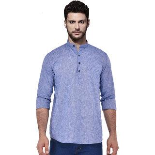 Zavlin blue cotton kurta