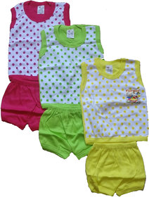 Kavya Fashion half Sleeve Baba Shut for kids pack of 3