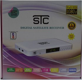 STC H-500 DTH Set Top Box  With Unlimited Recording + 1 Year Warranty (LIFE TIME FREE)