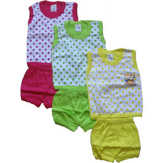 Kavya Fashion half Sleeve Baba Shut for kids pack of 3