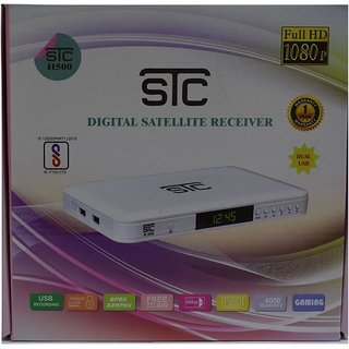 STC DTH Set Top Box H-500 With Unlimited Recording + 1 Year Warranty (LIFE TIME FREE)