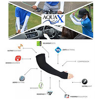 AquaX Mild compression arm sleeves with thumb holes