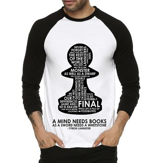 Fanideaz Men's Black Round Neck T-Shirt