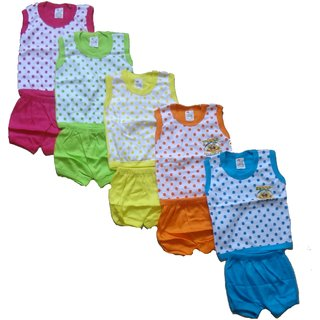 Kavya Fashion half Sleeve Baba Shut for kids pack of 5