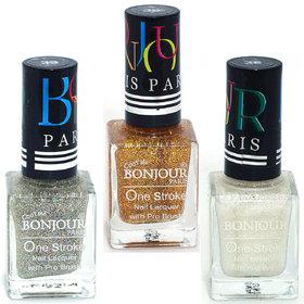 Coat Me Bonjour Paris True Color Nail Polish - Pack of 3, (0.90 Oz)