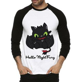 Fanideaz Men's Black Round Neck T-Shirt