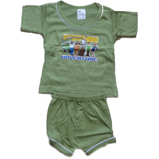 63ce4413b6c4 Buy Kavya Fashion Half sleeve Plain Baba Shut for kids pack of 5 Online -  Get 3% Off