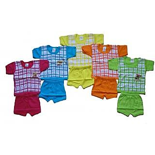 Kavya Fashions Half Sleeve Printed Baba Shut for kids pack of 5