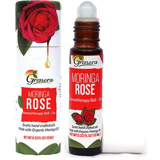 Grenera Moringa Rose Aromatherapy Roll-On-Bottle-10ml