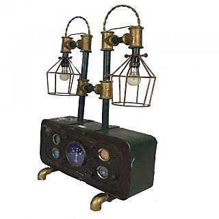 Singhal Exports Multicolor Metal Vintage Lamp With Bulb
