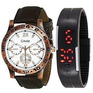Crude Smart Combo Analog and Digital Watch-rg559 With Multi Strap for - Men's  Boy's