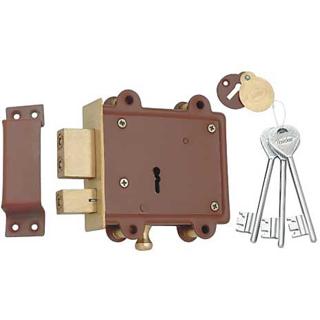 Spider Side Door Lock 8 Lever Double Action 3 CP Keys (SDL6)