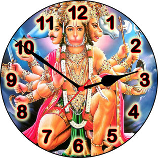 3d panchmukhi hanumanji wall clock