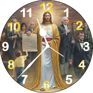 3d jesus people wall clock