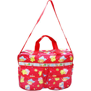 Wonderkids Sun Print Baby Diaper Bag Waterproof Easy To Carry Red Color