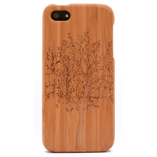 Tree Engraved Bamboo iPhone 5/5s Wood Case Prices in India ...