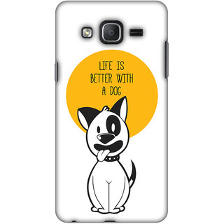 Amzer Designer Case - Life Is Better With A Dog For Samsung Galaxy On7