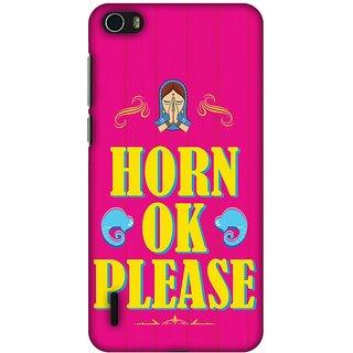Amzer Designer Case - Horn OK Please For Huawei Honor 6
