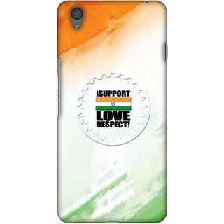 Amzer Designer Case - I Support Love India For OnePlus X