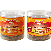Almonds Tandoori Masala & Lemon Pepper-Chocholik Dry Fruits-2 Combo Pack