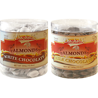 Almonds White And Milk Chocolate-Chocholik Dry Fruits-2 Combo Pack