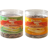 Almonds Italian Herbs & Mexican Salsa-Chocholik Dry Fruits-2 Combo Pack