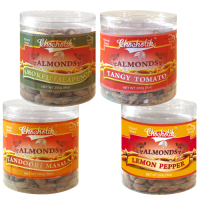 Almonds Tandoori Masala, Tangy Tomato, Lemon Pepper & Smoked Jalapeni-Chocholik Dry Fruits-4 Combo Pack