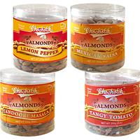 Almonds Lemon Pepper, Tandoori Masala, Tangy Tomato & Mexican Salsa-Chocholik Dry Fruits-4 Combo Pack