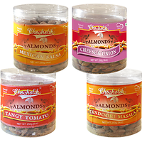 Almonds Mexican Salsa, Tandoori Masala, Tangy Tomato & Cheese Onion-Chocholik Dry Fruits-4 Combo Pack
