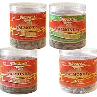 Almonds Peri Peri, Almonds Rose, Gulkand & Italian Herbs-Chocholik Dry Fruits-4 Combo Pack